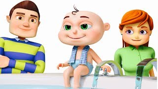 Download Five Little Babies Bathing In A Tub | Learn Good Habits For Kids | Five Little Babies Collection Video