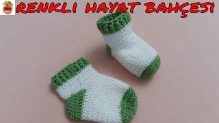 Download Tığ İşi Bebek Çorap / Patik Modeli ( 1-2 Yaş ) Anlatımlı Yapılışı - Örgü Dantel Oya El İşi Video