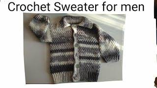 Download Sueter para hombre a crochet paso a paso parte #1 ( crochet sweater for men) Video