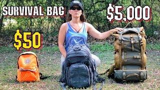 Download $50 Survival Kit Vs. $5000 Survival Kit Video