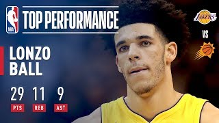 Download Lonzo Ball Completes A Near Triple Double in Lakers Win | 29 Points, 11 Rebounds, 9 Assists Video