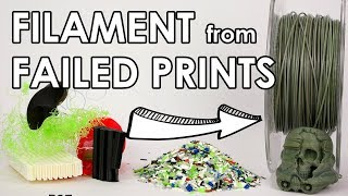 Download Recycle your failed 3D prints! Make new filament at home. Video