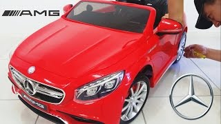 Download Mercedes Benz S63 AMG Ride On Car Toy 12 Volt Unboxing diy Video
