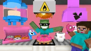 Download Monster School: WORK AT DONUT PLACE! - Minecraft Animation Video