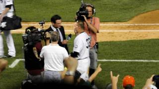 Download Nick Swisher walk off hit, yankees beat tampa rays 7-16-10 nick gets pie Video