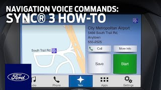 Download SYNC 3 Navigation Voice Commands | SYNC 3 How-To | Ford Video