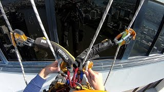 Download Rope Access Window Cleaning - Rope Transfer Video