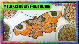 Download Melukis kolase Kupu-Kupu dengan Biji-bijian- Painting mosaic and collage Video