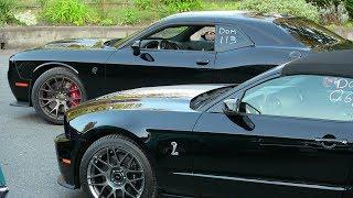 Download Hellcat vs manual Shelby GT500-drag race Video