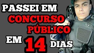 Download COMO PASSEI EM CONCURSO PÚBLICO EM 14 DIAS  PASSEI EM CONCURSO PÚBLICO EM 2 SEMANAS Video