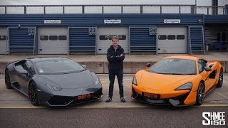 Download DRAG RACE: Lamborghini Huracan vs McLaren 570S Video