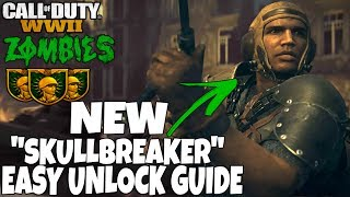 Download NEW CHARACTER ″SKULLBREAKER″ EASY UNLOCK GUIDE ″THE SHADOWED THRONE″ | Call Of Duty: WW2 ZOMBIES Video