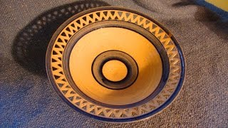 Download Pottery Carving / Piercing a geometric pattern on a clay bowl Video