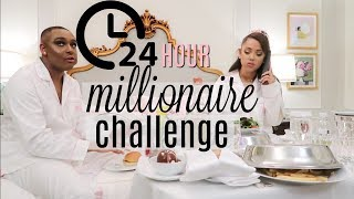 Download 24 hour overnight challenge as millionaires! Video
