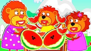 Download Lion Family 🥭 Super Fruits Cartoon for Kids Video