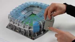 Download Nanostad 3D Allianz Arena München Blau Tutorial [deutsch] Video