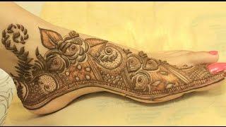Latest Arabic Khaleeji Henna Design For Feet 2016 Step By Step