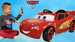 Download New Disney Cars 3 Lightning McQueen Battery Powered 6V Ride On Car Park Test Drive Ckn Toys Video