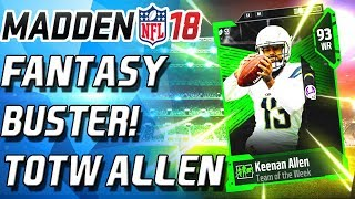 Download FANTASY BUSTER KEENAN ALLEN TEAM OF THE WEEK! - Madden 18 Ultimate Team Video