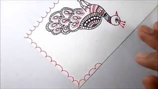 Download madhubani painting -a nice peacock Video