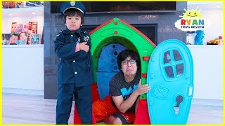 Download Ryan Pretend Play Police Helps Daddy and Mommy learn Good Habits Video