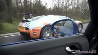 Download Bugatti Veyron CHASE! R8 V10 Spyder left behind... Video