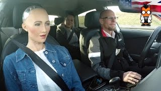 Download Robot Meets Self Driving Car - Sophia by Hanson & Jack by Audi Video