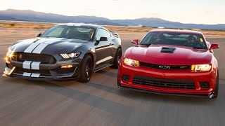 Download 2016 Ford Mustang Shelby GT350R vs. 2015 Chevrolet Camaro Z/28 - Head 2 Head Ep. 71 Video