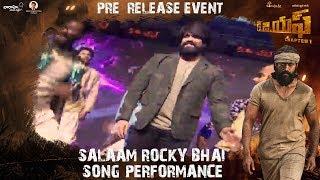 Download Salaam Rocky Bhai Song Performance | KGF (Telugu) Pre Release Event | Yash | Srinidhi Shetty Video