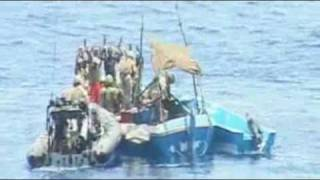 Download Navy blasts pirate boat Video