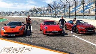 Download 911 gegen alle! I Porsche 911 Carrera S, Corvette C7, BMW M850i I GRIP Video