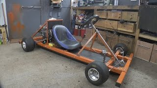 Download Making a Motorised Go Cart with NO WELDER and simple tools #1 - Chassis/Engine Video