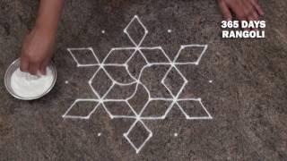 Download simple rangoli design/ friday rangoli design/ small rangoli design with 7 dots Video