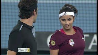 Download Roger Federer/Sania Mirza vs Bruno Soares/Daniela Hantuchova IPTL Delhi 2014 Full Match Video
