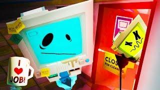 Download WHAT DID TEMP BOT DO!?!! HACKING JOB SIM!! (Job Simulator VR HTC Vive) Video