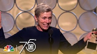 Download Frances McDormand Wins Best Actress in a Drama at the 2018 Golden Globes Video