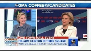 Download Hillary Clinton and Bernie Sanders react to Kate McKinnon's impersonation of Clinton (Compilation) Video