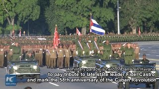 Download RAW: Military parade held in Havana to remember Fidel Castro and his revolution Video
