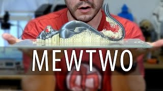 Download Mewtwo Pokemon on Two 3D Printers Using Dissolvable Support (PVA Filament) Video
