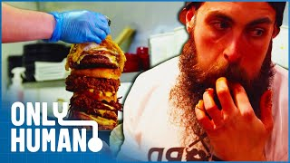 Download Mr. ″Beard Meat Food″ is Every Buffet Owner's Nightmare | Britain's Buffet Hunters | Only Human Video