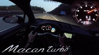 Download Porsche Macan Turbo POV AUTOBAHN Test Drive ACCELERATION & TOP SPEED 480HP Tuned by RaceChip Video