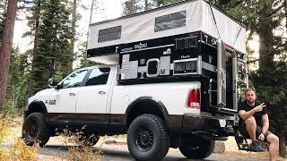 Download Taking A Tour Around The ULTIMATE Pop-Up Truck Camper Video