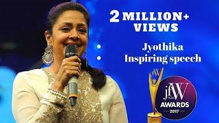 Download Jyothika Inspiring Speech at JFW Awards 2017 | JFW Magazine Video