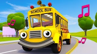 Download Wheels On The School Bus | Nursery Rhymes & Kids Songs | Gecko's Garage | Bus Song For Kids Video