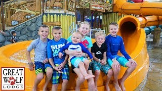 Download 24 Hours with 6 Kids at the Great Wolf Lodge Video