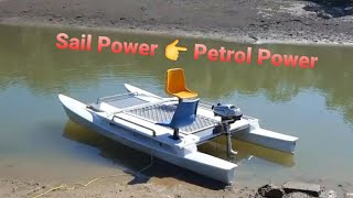 Download Sailing Catamaran turned motor pontoon Video