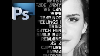 Download Text poster on face - Photoshop tutorial Video