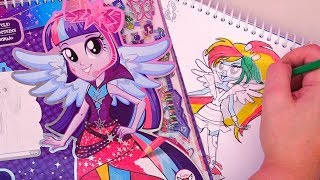 Download My Little Pony Equestria Girls Fashion Design Sketchbook for Kids Stories With Toys & Dolls | SWTAD Video