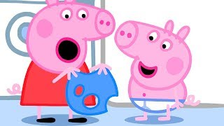 Download Pepppa Pig Official Channel | Peppa Pig finds holes in George's Clothes Video