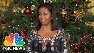 Download First Lady Gives Emotional Thank You To White House Visitors | NBC News Video